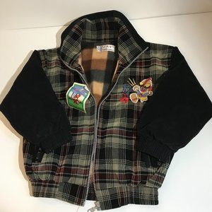 NWT Boy's Plaid Jacket with Contrasting Sleeves 5